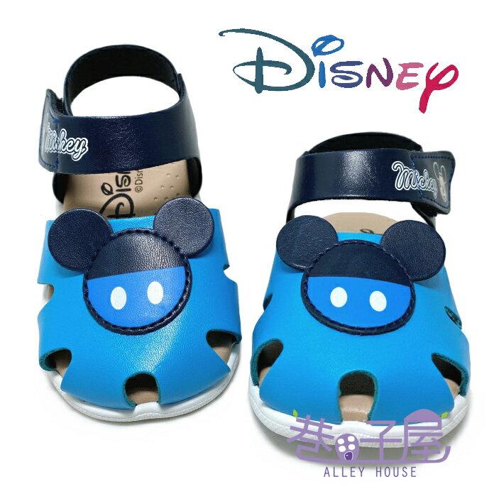 迪士尼DISNEY 童款米奇手工款包趾涼鞋 [118339] 藍 MIT台灣製造【巷子屋】