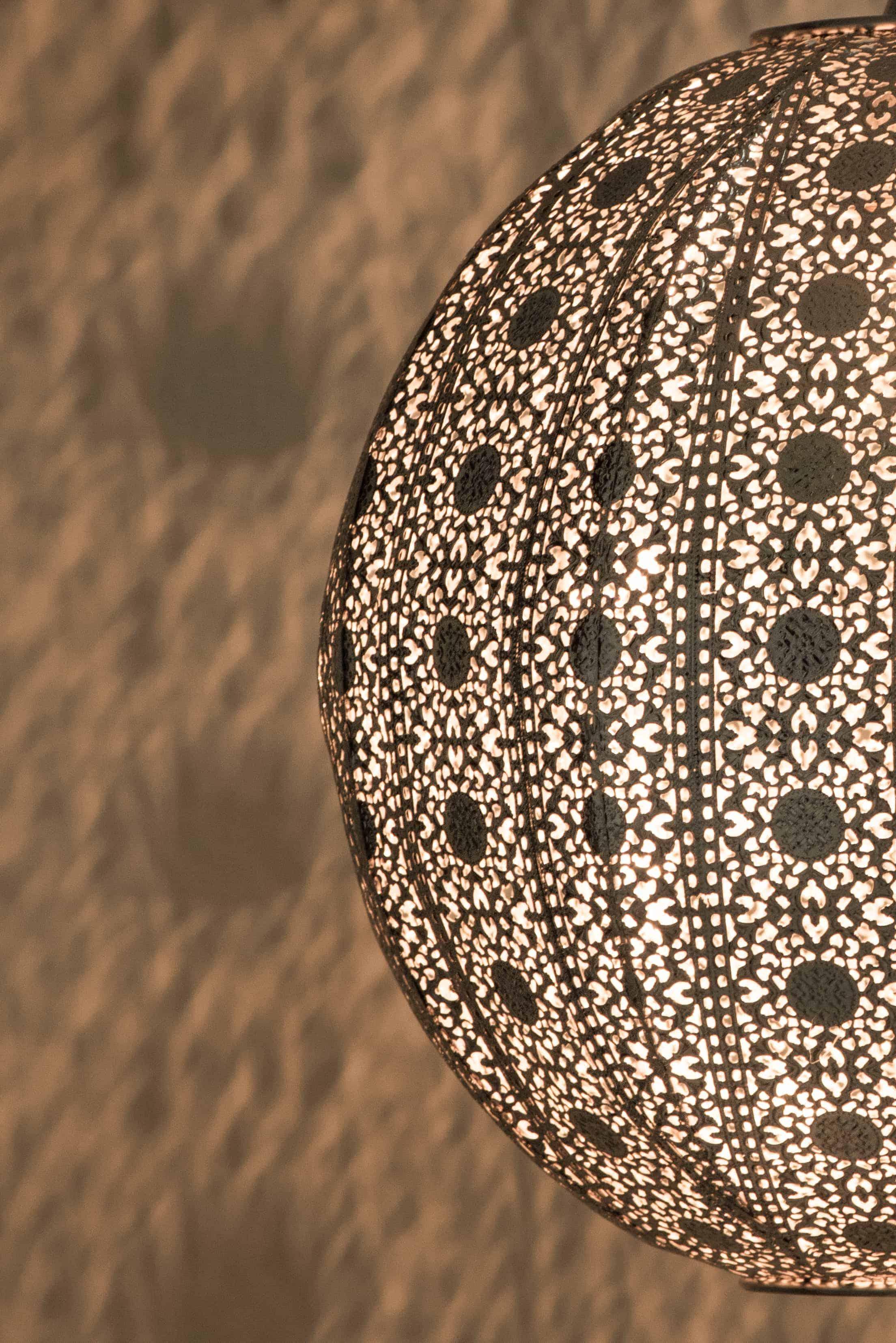亮鎳蕾絲花邊圓形吊燈-BNL00076 5