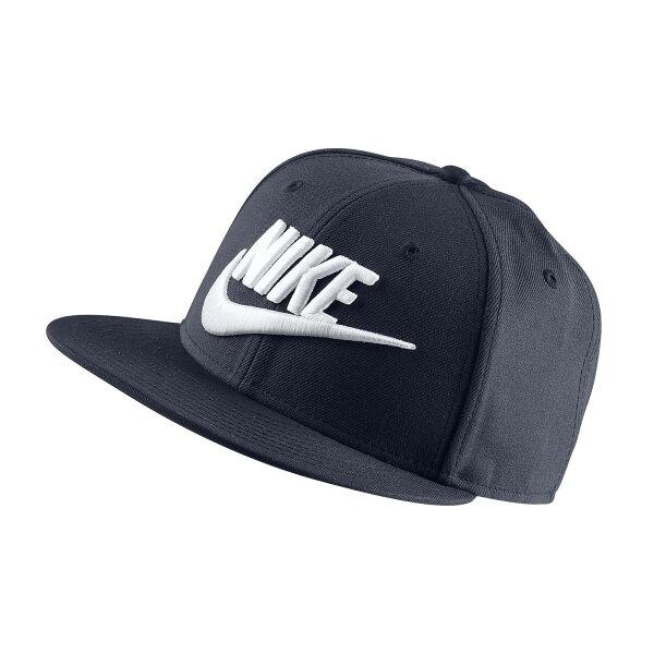 美國百分百【全新真品】NIKE耐吉snapback帽子配件棒球帽男女遮陽帽卡車司機深藍色J045