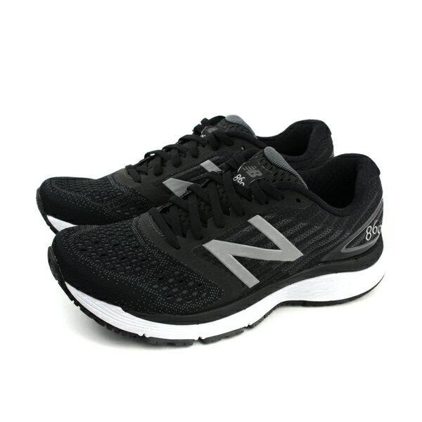 NEWBALANCE860系列運動鞋跑鞋黑色男鞋寬楦M860BK9-4Eno506