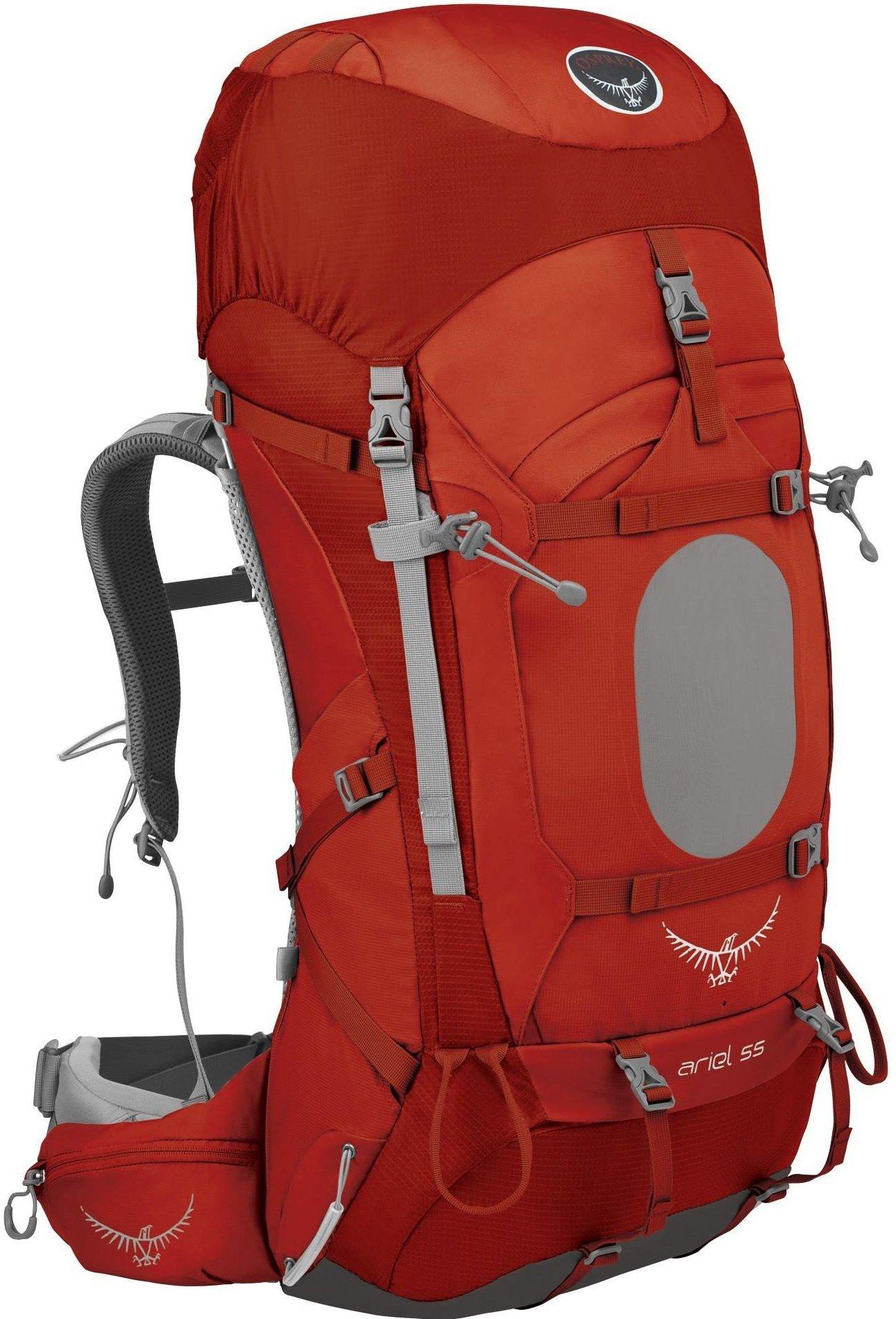 [ Osprey ] Ariel 55 精靈 女款 專業登山健行後背包 紅
