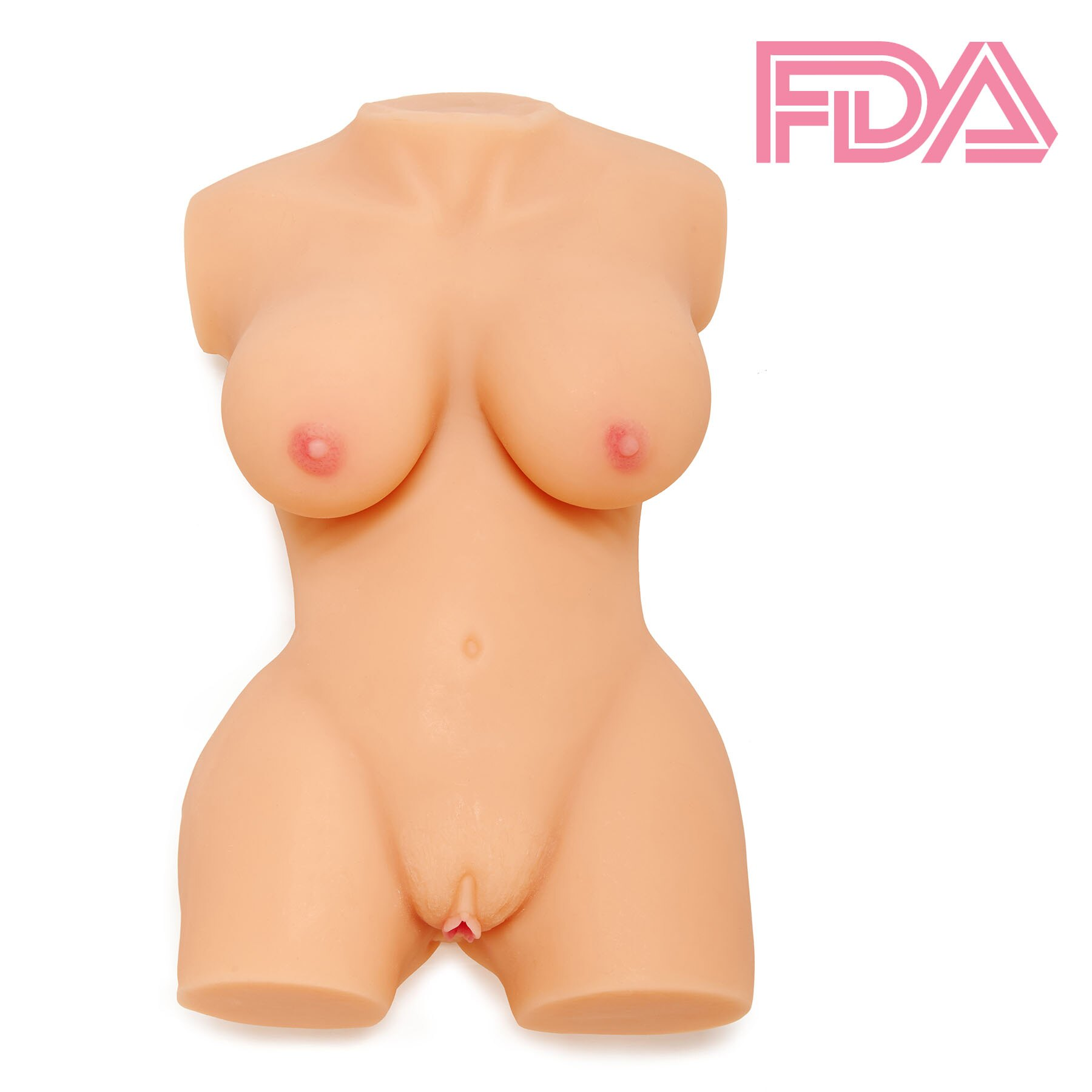 3 D Sex Com 3d sex love doll silicone male masturbator torso realistic breast pussy ass  adult toy flesh color(16.3 lbs)