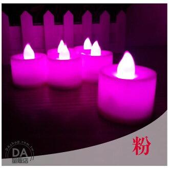 《DA量販店》粉紅色 LED 電子 蠟燭 造型燈 裝飾燈 求婚 活動 環保 實用(V50-0830)