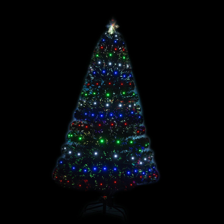 HomCom 4' Artificial Holiday Decoration Light Up Christmas Tree - Green 0