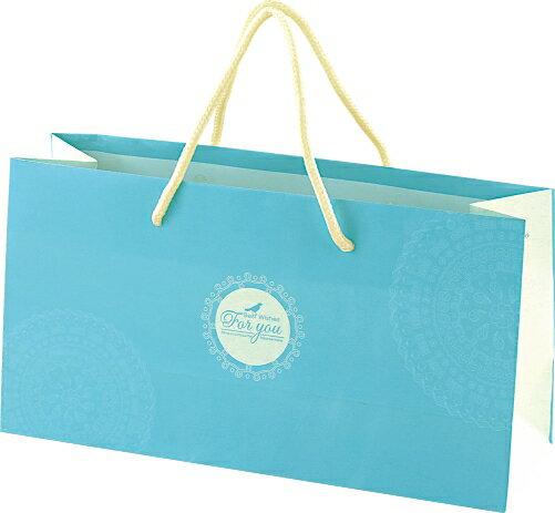 【零售量】手提袋.水藍色(簡約幸褔)/ 50個