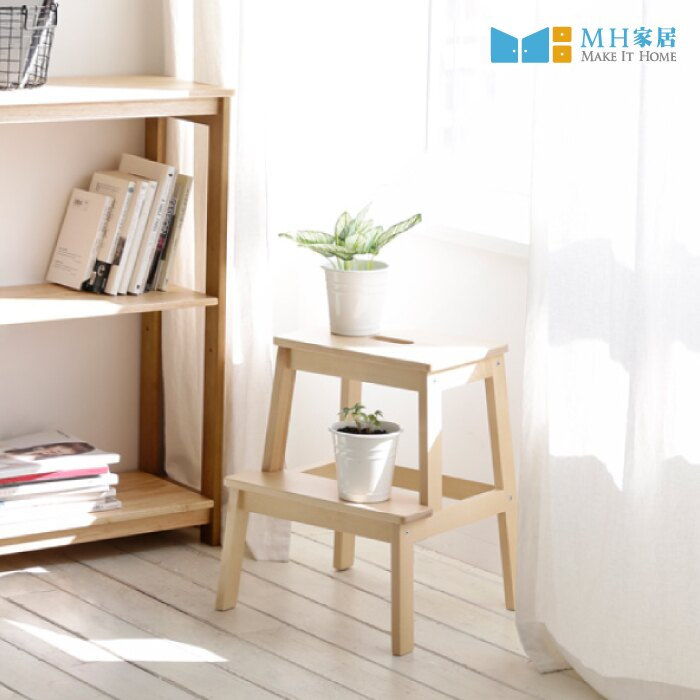 韓國 約維克原木樓梯椅 二層階梯椅 登高椅 板凳 【MH家居嚴選】