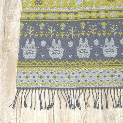 【真愛日本】15111300044 針織圍巾-龍貓樹木花 龍貓 TOTORO 豆豆龍 圍巾 禦寒用品 保暖