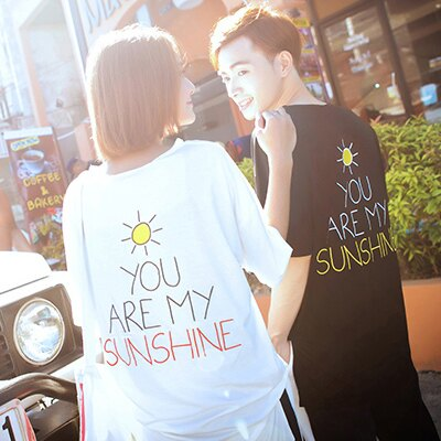 T恤 情侶裝 客製化 MIT台灣製純棉短T 班服◆快速出貨◆獨家配對情侶裝.背後sunshine【Y0090】可單買.艾咪E舖 0