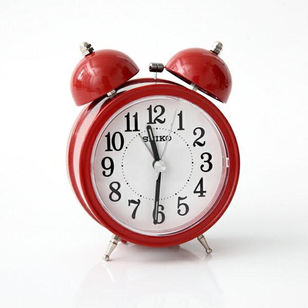SEIKO復古紅色大聲公造型鬧鐘【NV42】柒彩年代