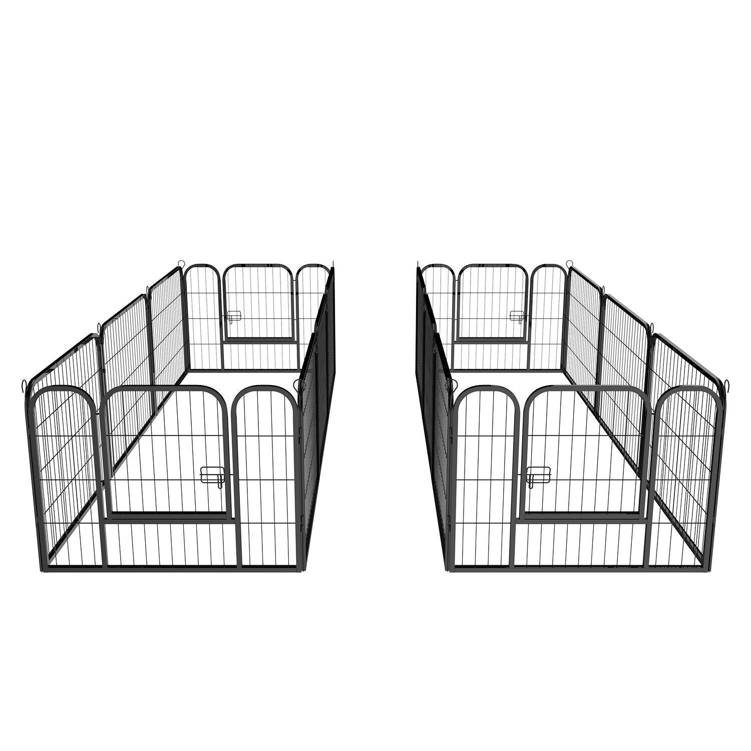 16 Panel Large Metal Pet Dog Cat Exercise Barrier Fence Cage 1