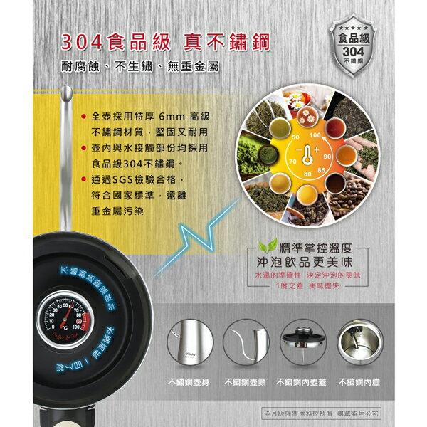 Dr.AV 聖岡 DK-02BG 義式手沖溫控快煮壺 溫度計控溫 開關一鍵燒水 不鏽鋼 手沖咖啡 原廠保固 3