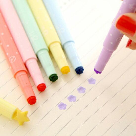 ♚MY COLOR♚ 多功能糖果色印章筆 標記筆 學生用品 設計 辦公用品 多色 創意 文具【P138】