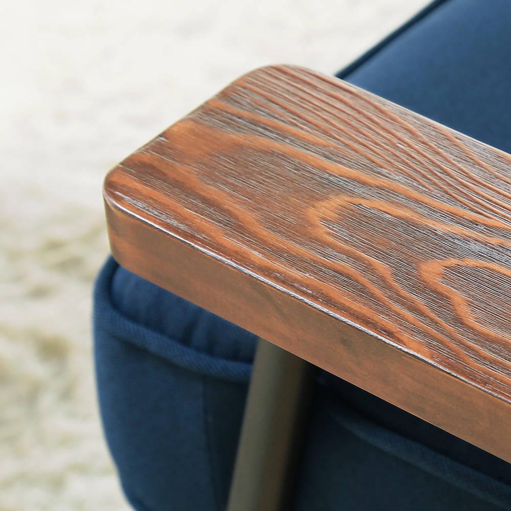 日式 推薦 Marico馬力克工業風鐵架L型沙發 / 雙人沙發+腳凳  /  H&D 1
