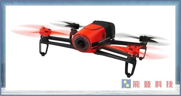 【空拍攝影機】(紅色)雙電池派諾特ParrotBEBOPDRONE單機版空拍機遙控攝影飛機WIFI功能1080P高清畫質自動返航功能雙核處理器含稅開發票公司貨