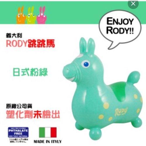 義大利RODY超彈力跳跳馬 【粉綠】(Baby 感覺統合)★衛立兒生活館★