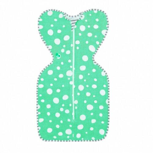 澳洲LoveToDreamSWADDLEUP蝶型包巾穿著式設計款-綠底點(SM)【悅兒園婦幼生活館】