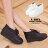 格子舖*【AA6616】MIT台灣製 嚴選反摺透氣皮革 柔軟乳膠鞋墊 繫帶4.5CM厚底鬆糕鞋 2色 0
