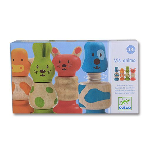 法國 DJECO 智荷 可愛小動物立體積木 親子遊戲 兒童益智遊戲 ☆真愛香水★