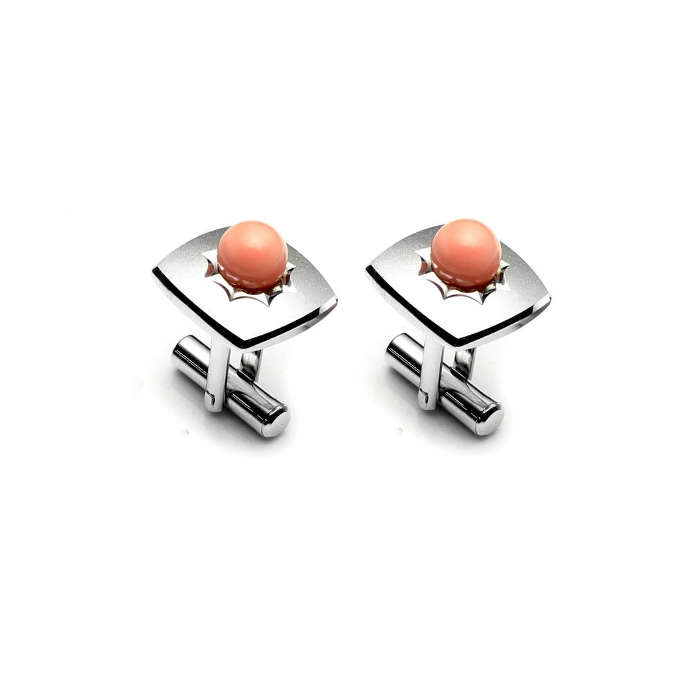 大東山珠寶 自我宣言 仕紳系列 天然粉珊瑚  西裝領徽 袖扣 1