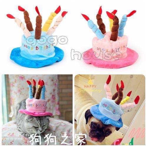 ☆狗狗之家☆PETSTYLE我要過生日/生日快樂蠟燭變身帽/變裝帽