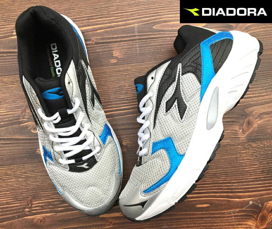 【剪標品出清-26號】義大利國寶鞋-DIADORA迪亞多納 男款經典寬楦輕量運動慢跑鞋