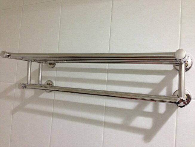 ↘ 衛浴配件下殺5折起↘雙層雙桿304不銹鋼不鏽鋼置衣架 放衣架 毛巾架 置物架 浴室小幫手 衛浴好收納 (拋光亮面) 上下雙層收納工具 A828