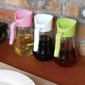 美麗大街【BF129E20E860】廚房常用液體調味品收納玻璃可控制便攜式油壺(250ml)