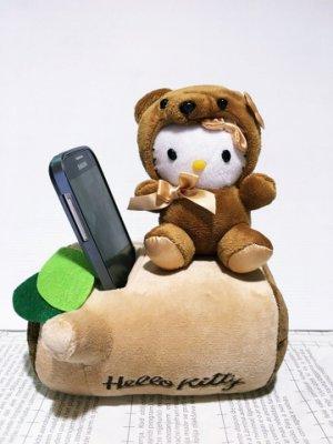 ~真愛 ~11061900007 手機置物筒~泰迪熊棕 KITTY 凱蒂貓 三麗鷗 手機置