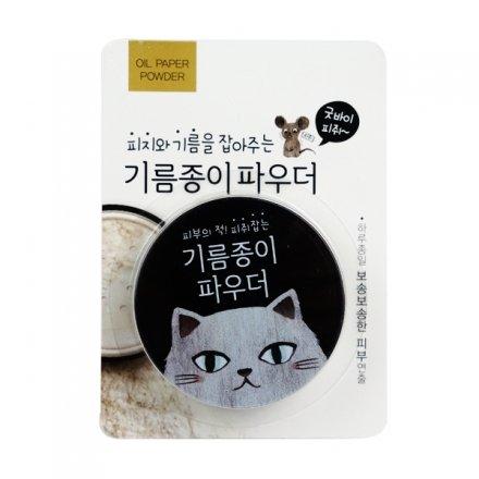 貓咪心機全日控油蜜粉(附粉撲)5g【櫻桃飾品】【27412】