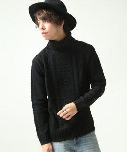 高領毛衣BLACK
