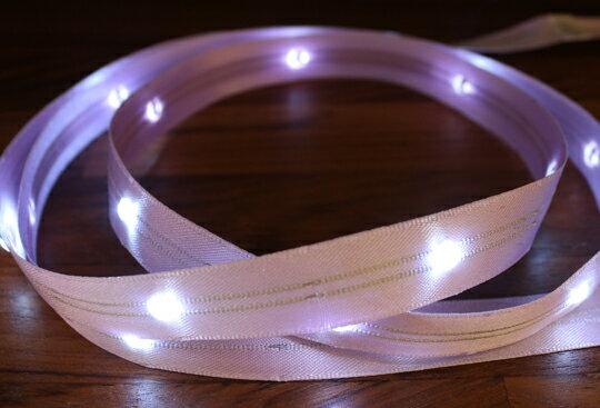 LiTex LED寬版緞帶15mm-白燈系列-中間燈(12色緞帶可選擇) 5