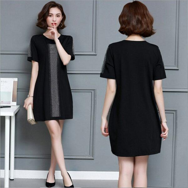 糖衣子輕鬆購【GH2019】韓版時尚潮流氣質顯瘦百搭連身裙