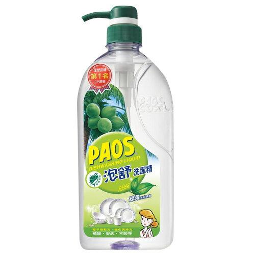 泡舒綠茶洗潔精1000g壓瓶裝【愛買】