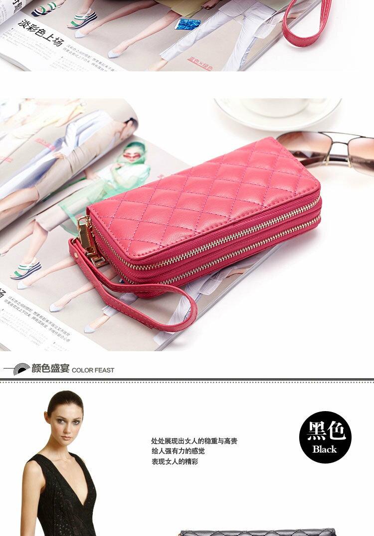 長夾 菱格紋 雙層拉鍊 錢包 卡包 手拿包 長夾【CL8343】 BOBI  01 / 04 3