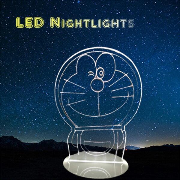 北歐 Doraemon 哆啦A夢 小夜燈 卡通 LED燈 3D立體燈 生日禮物 交換禮物 情人節禮物