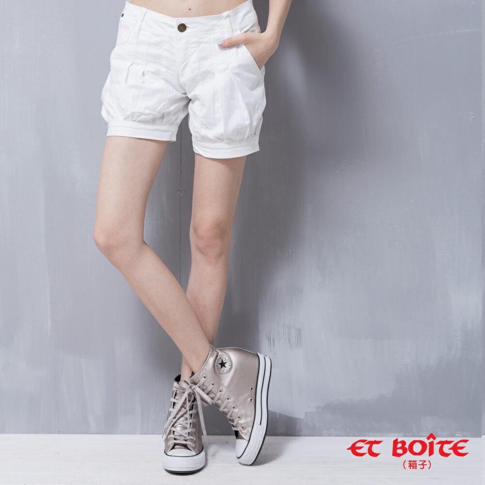 【8折限定↘】ET BOiTE 箱子  Amour 海洋風休閒白色短褲【0218-0222全店滿千折100,再加碼點數20倍送】 0