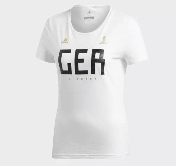 ADIDASGERMANY女裝短袖休閒世足賽世界盃德國白黑【運動世界】CW2073