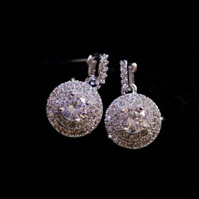 ~925純銀耳環鑲鑽耳飾~ 奢華妹麗迷人情人節生日 女飾品73du17~ ~~米蘭 ~