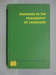 【書寶二手書T4/原文小說_PFB】Readings in the Philosophy of Language