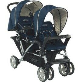 Graco - Stadium Duo 雙人前後座嬰幼兒手推車 城市雙人行 -天海藍 0