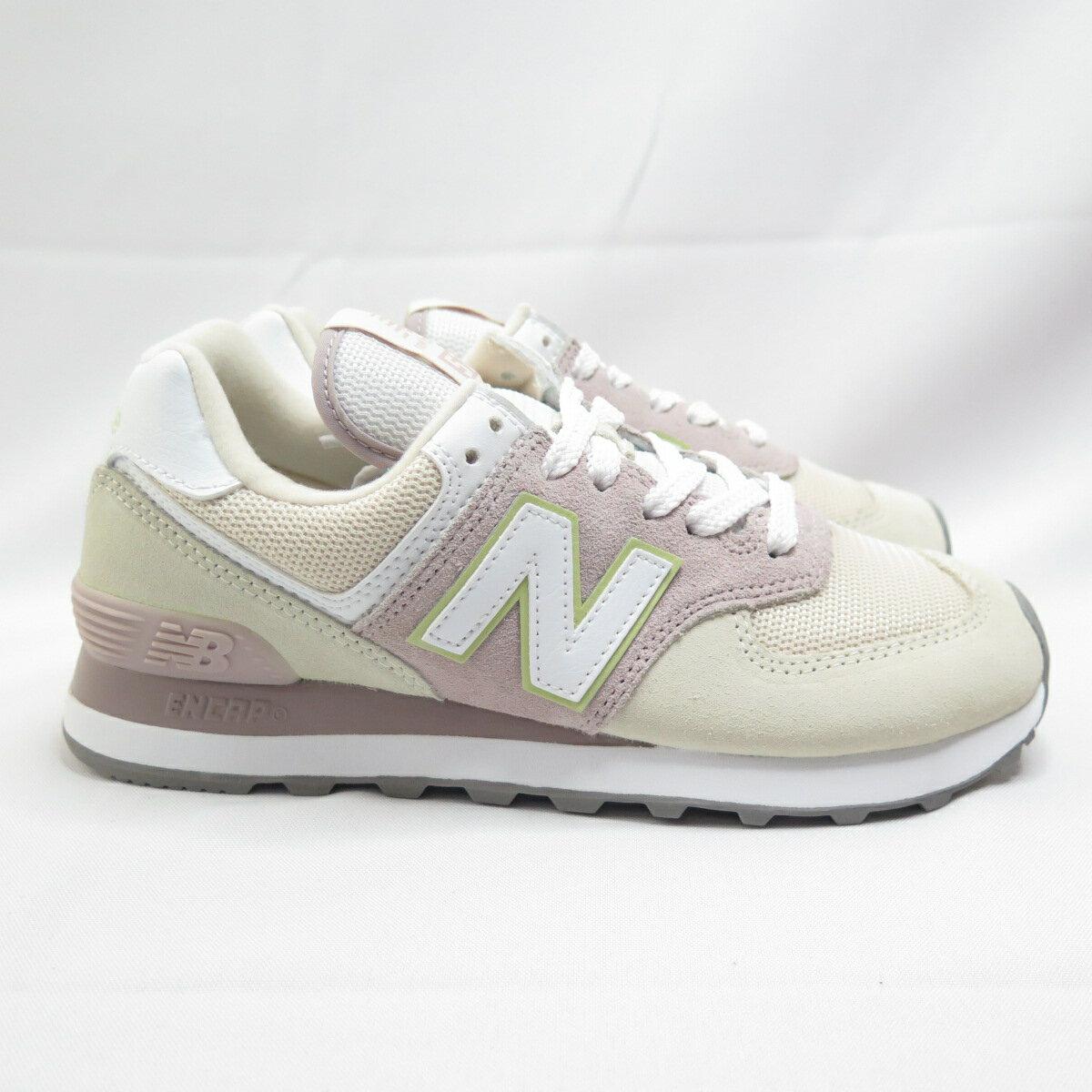 New Balance 復古鞋 休閒鞋 WL574LBL 女款 淺卡其x粉【iSport愛運動】