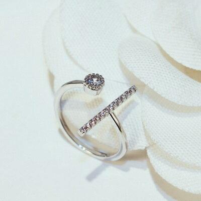 純銀戒指鑲鑽925銀飾-奢華時尚高貴大方母親節生日情人節禮物女飾品73by52【獨家進口】【米蘭精品】