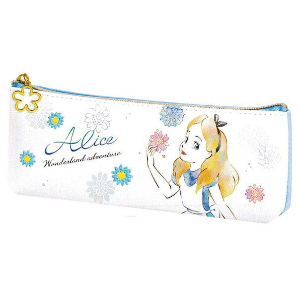 【愛麗絲皮革鉛筆袋】迪士尼 愛麗絲 鉛筆袋 皮革 高   該該貝比  ☆
