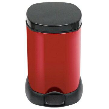 【家簡塵除】豔麗寶石紅腳踏式垃圾桶(5L)