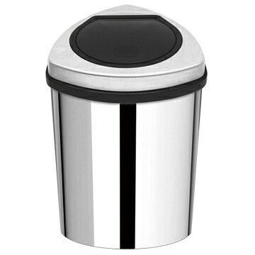 【家簡塵除】金盾形不鏽鋼手動油壓式垃圾桶(12L)