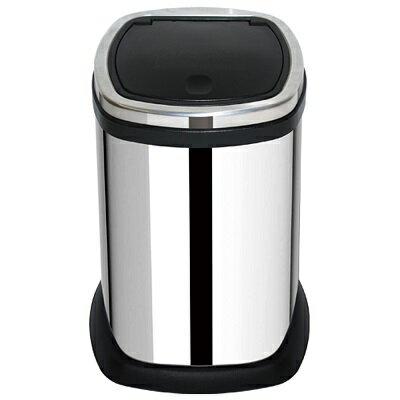 【家簡塵除】靚亮不鏽鋼手動油壓式垃圾桶(11L)