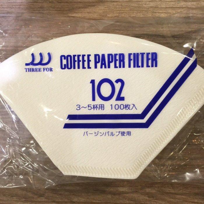 【沐湛咖啡】日本製三洋濾紙 咖啡濾紙 漂白扇形濾紙 G102 適用三洋濾杯 100入一包 玩家專用