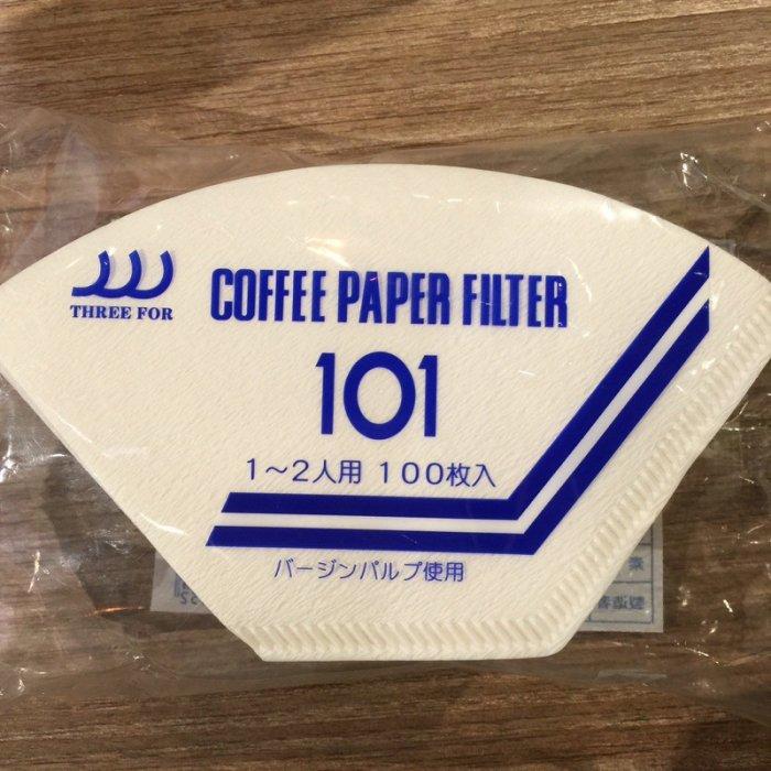 【沐湛咖啡】日本製三洋濾紙 咖啡濾紙 漂白扇形濾紙 G101 適用三洋濾杯 100入一包 玩家專用