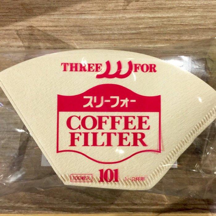 【沐湛咖啡】日本製三洋濾紙 咖啡濾紙 無漂白扇形濾紙 G101 適用三洋濾杯 100入一包