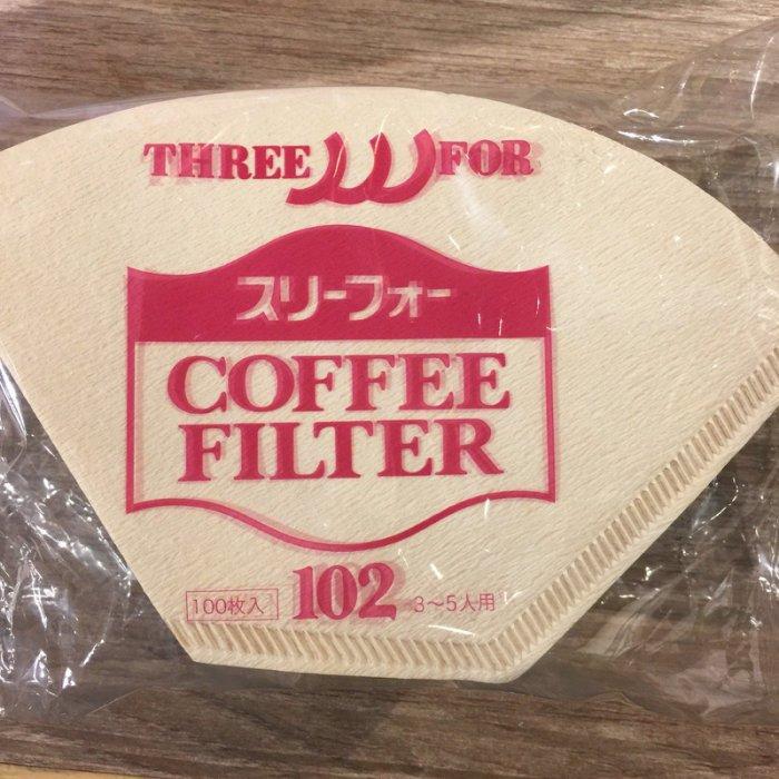 【沐湛咖啡】日本製三洋濾紙 咖啡濾紙 無漂白扇形濾紙 G102 適用三洋濾杯 100入一包